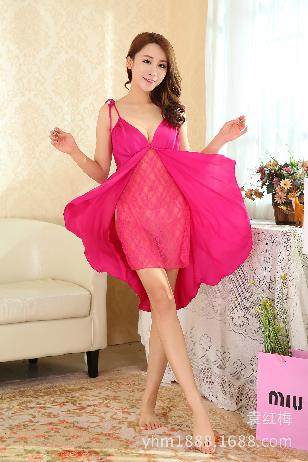 Đầm ngủ phối ren cột hai dây sexy