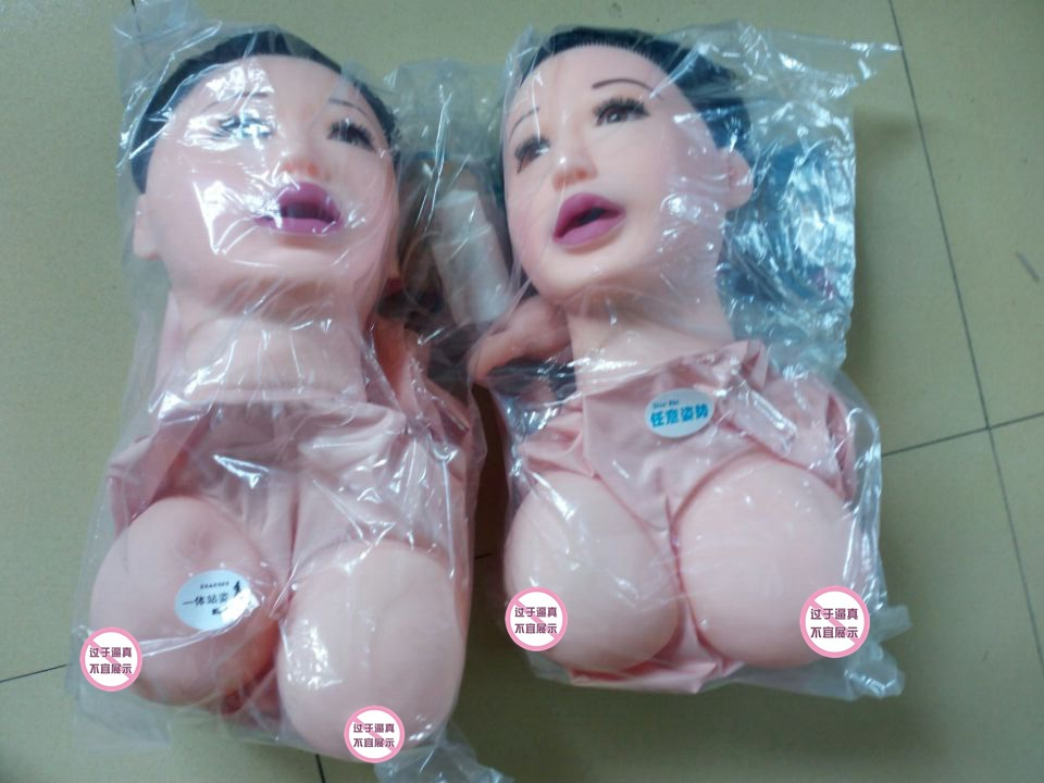 Clear blowup doll