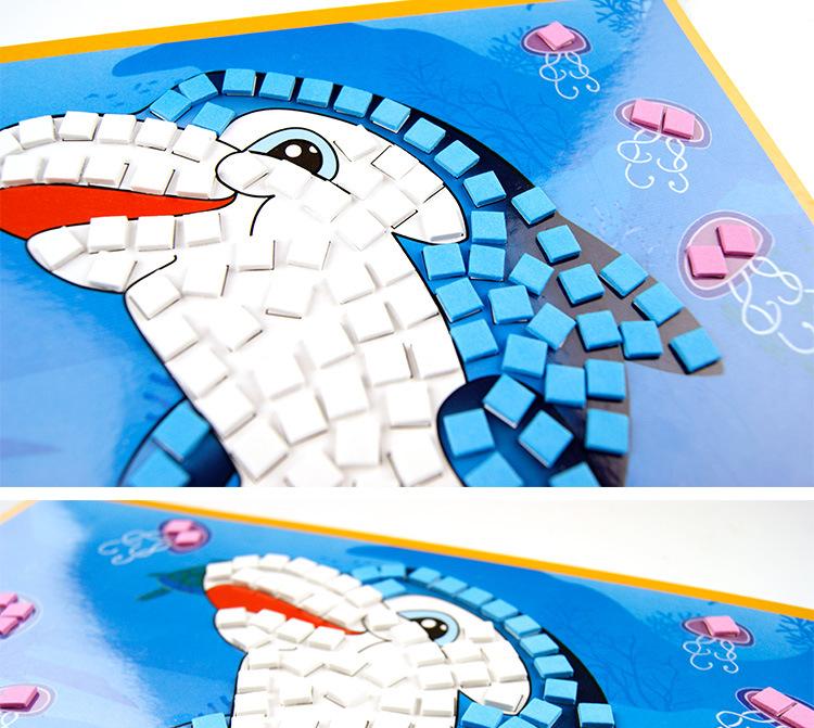 马赛克贴画贴纸 幼儿园儿童diy手工制作玩具 eva立体益智拼图