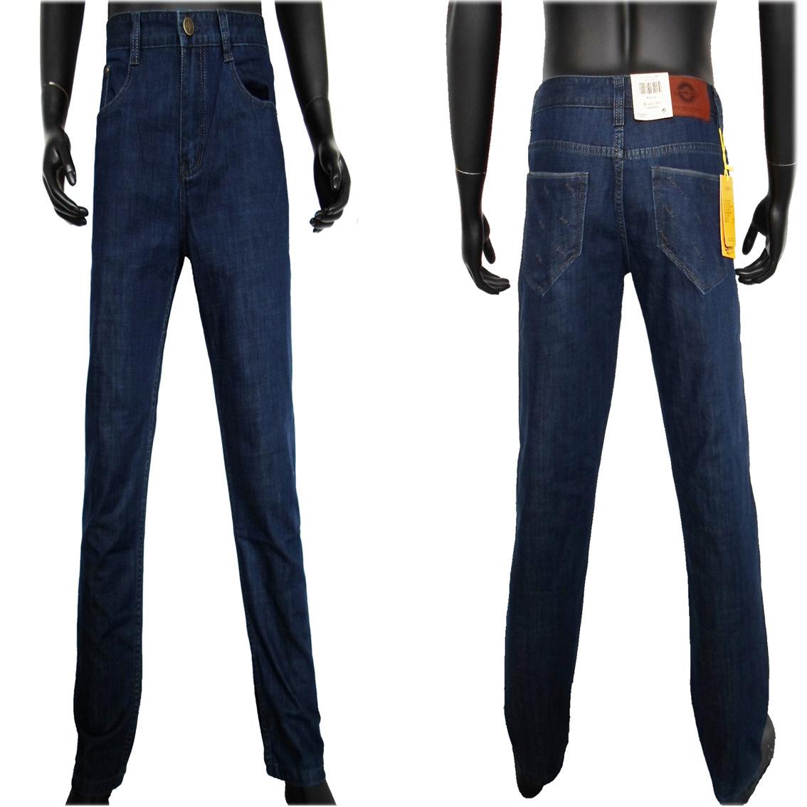 男士牛仔裤 库存批发外贸原单男士牛仔裤 纯棉直筒弹力杂款男士 阿里