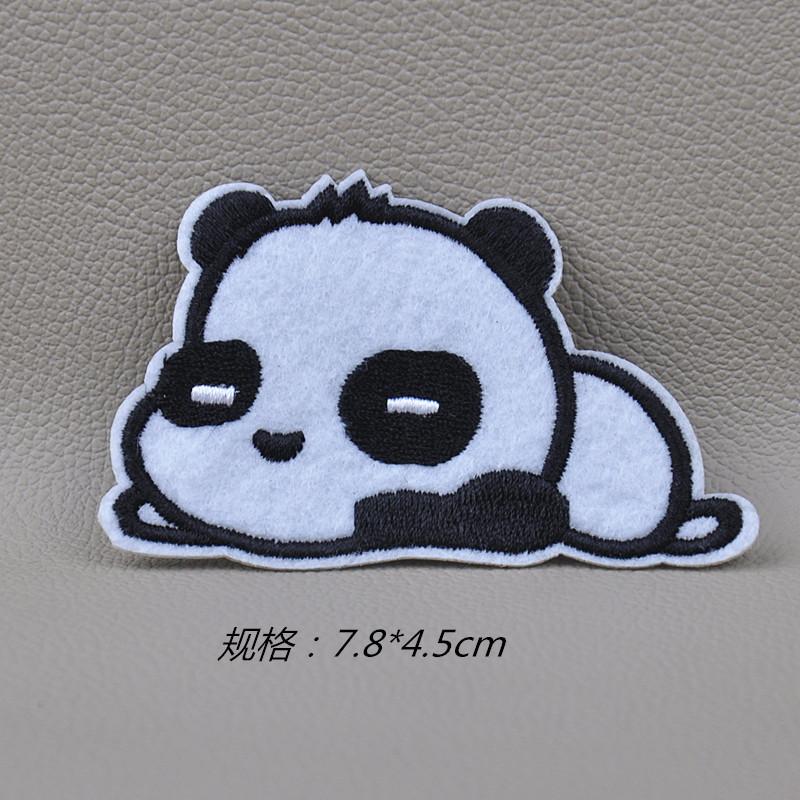 DIY手工布贴画补丁贴 刺绣熨烫补丁贴外贸 大头熊猫 -价格,厂家,