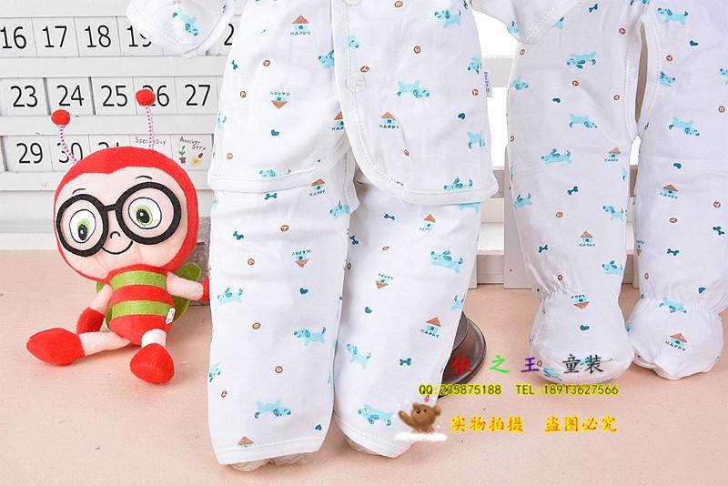 童内衣内裤 2014新款一件拿样 聪靓贝贝 新生婴儿全内衣五件套全棉礼图片