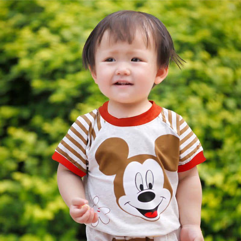 夏季新品 一件代发 重庆厂家0-3岁男童纯棉运动短袖套装0154