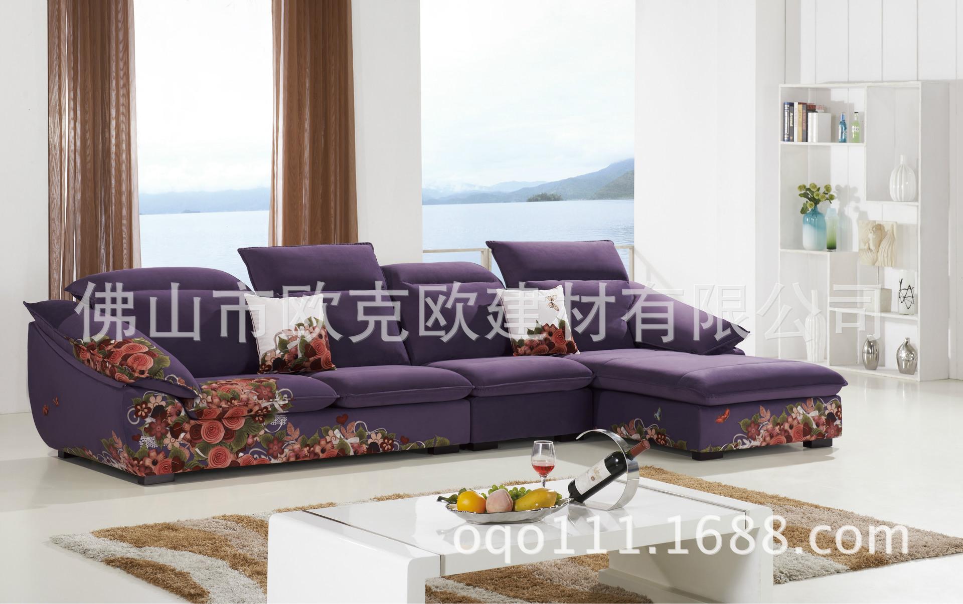 沙发类 480 A高档数码印花布艺沙发 时尚沙发家居配套 厂家直销加工
