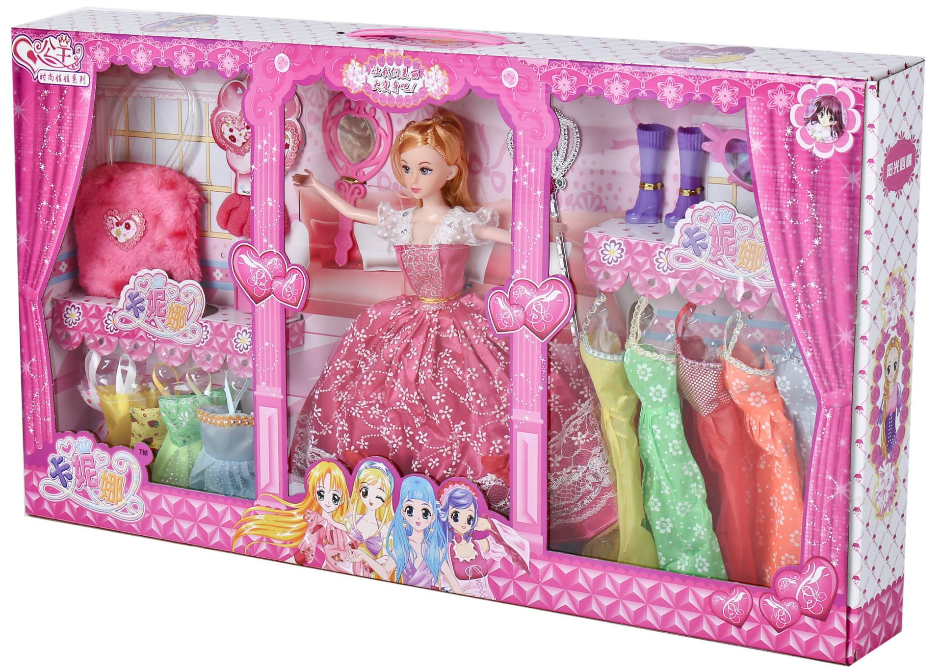 芭比娃娃 3C认证 卡妮娜娃娃 礼盒装 生日礼物 女孩最爱
