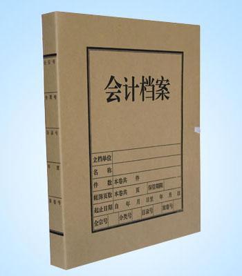厂家直销 进口无酸纸牛皮纸 会计A4档案盒 档案袋 专业订做