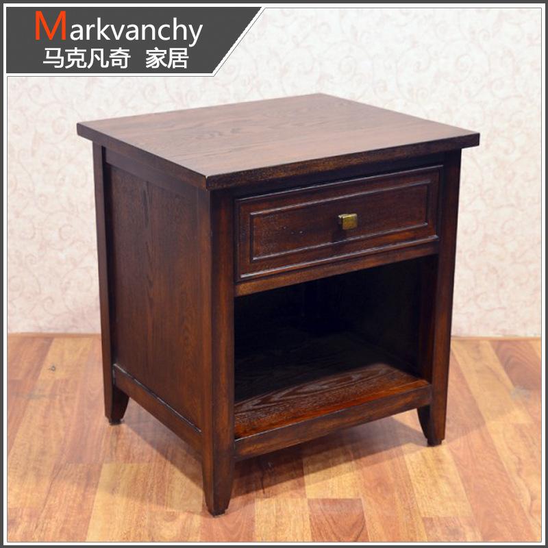 批发销售 C11-1美式实木边角几 马克凡奇沙发角几 小型咖啡桌