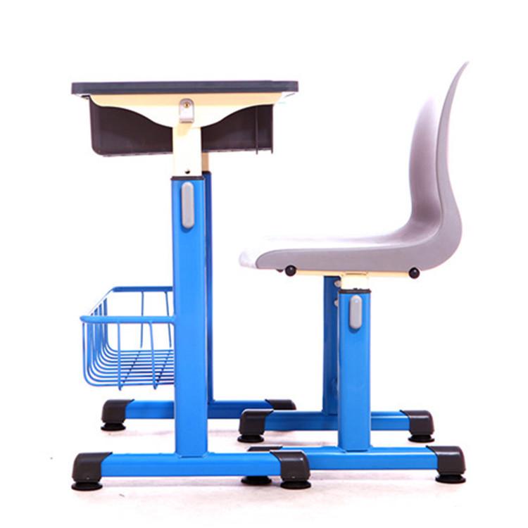 学生课桌椅 塑钢课桌 中学生课桌 学校课桌 单人课桌 升降课桌