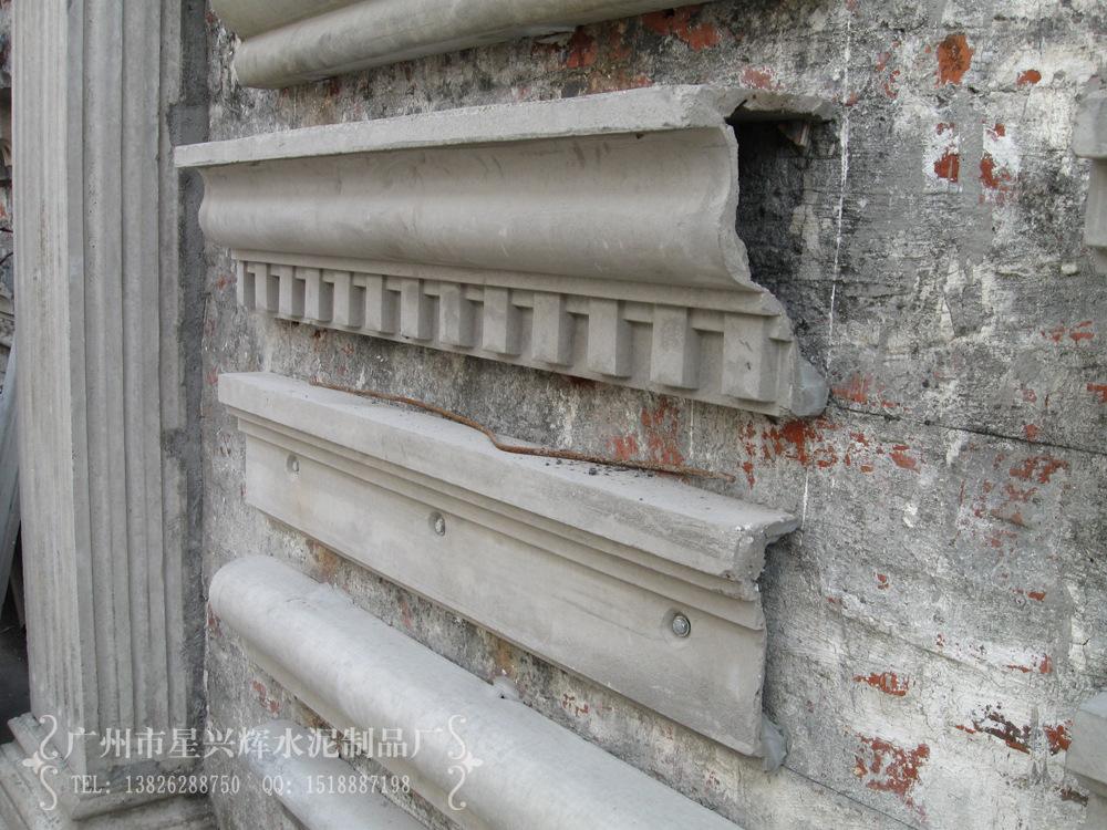 外墙装饰EPS线条 GRC饰线 简约线条 广州水泥构件厂价格及生产厂家