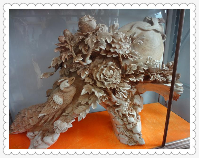 广东根雕 崖柏木根雕 花好月圆 工艺品摆设 -价格,厂家,图片,木质
