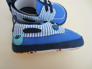 外贸欧美l蓝条青蛙标宝宝鞋学步鞋婴儿鞋