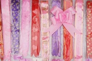 批发婚庆用品结婚喜糖盒配件小拉花 礼盒包装装饰 多色蝴蝶拉花