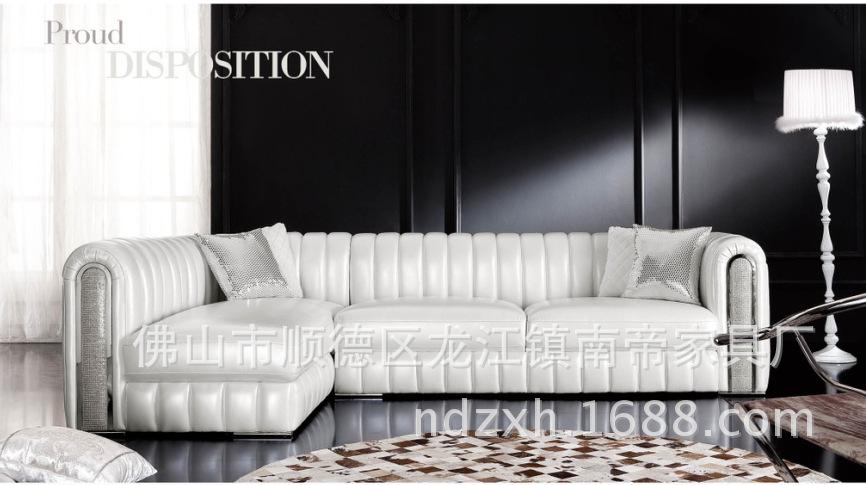 精品欧式真皮沙发 款式非常大方 手感超柔
