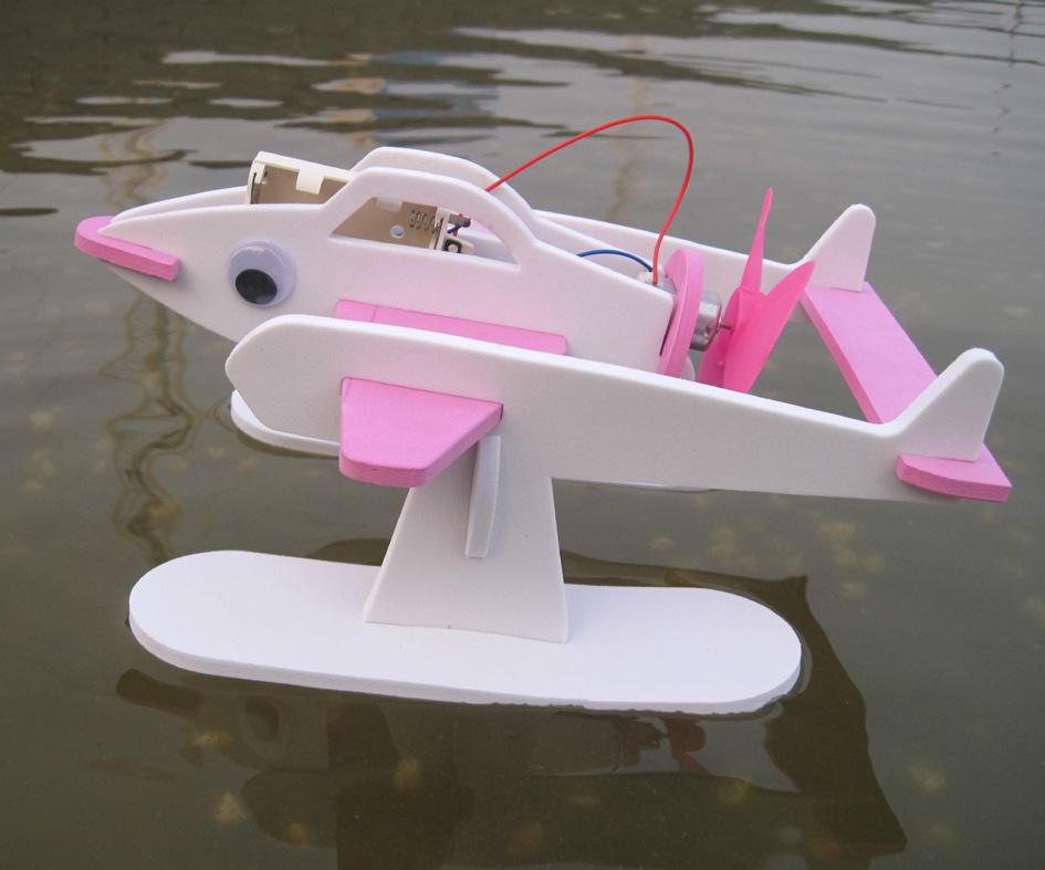 拼装模型飞鱼机器人自然生态环境科学套件动力轮船模型空气泾县扬子鳄新闻联播图片