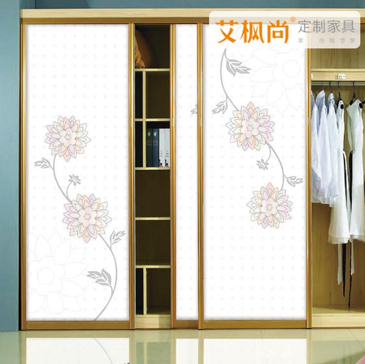 艾枫尚定制家具衣柜推拉滑移门定做百叶门定制衣柜推拉门