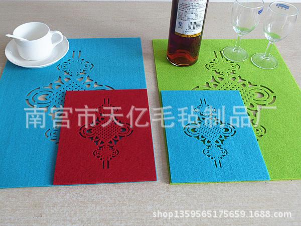 厂家批发家居餐垫毛毡杯垫毛毡餐垫隔热垫创意餐垫