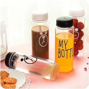 оптовая Корея my bottle творческих прозрачных пластиковых прозрачных стакан воды с крышкой легко кубок портативный герметичность