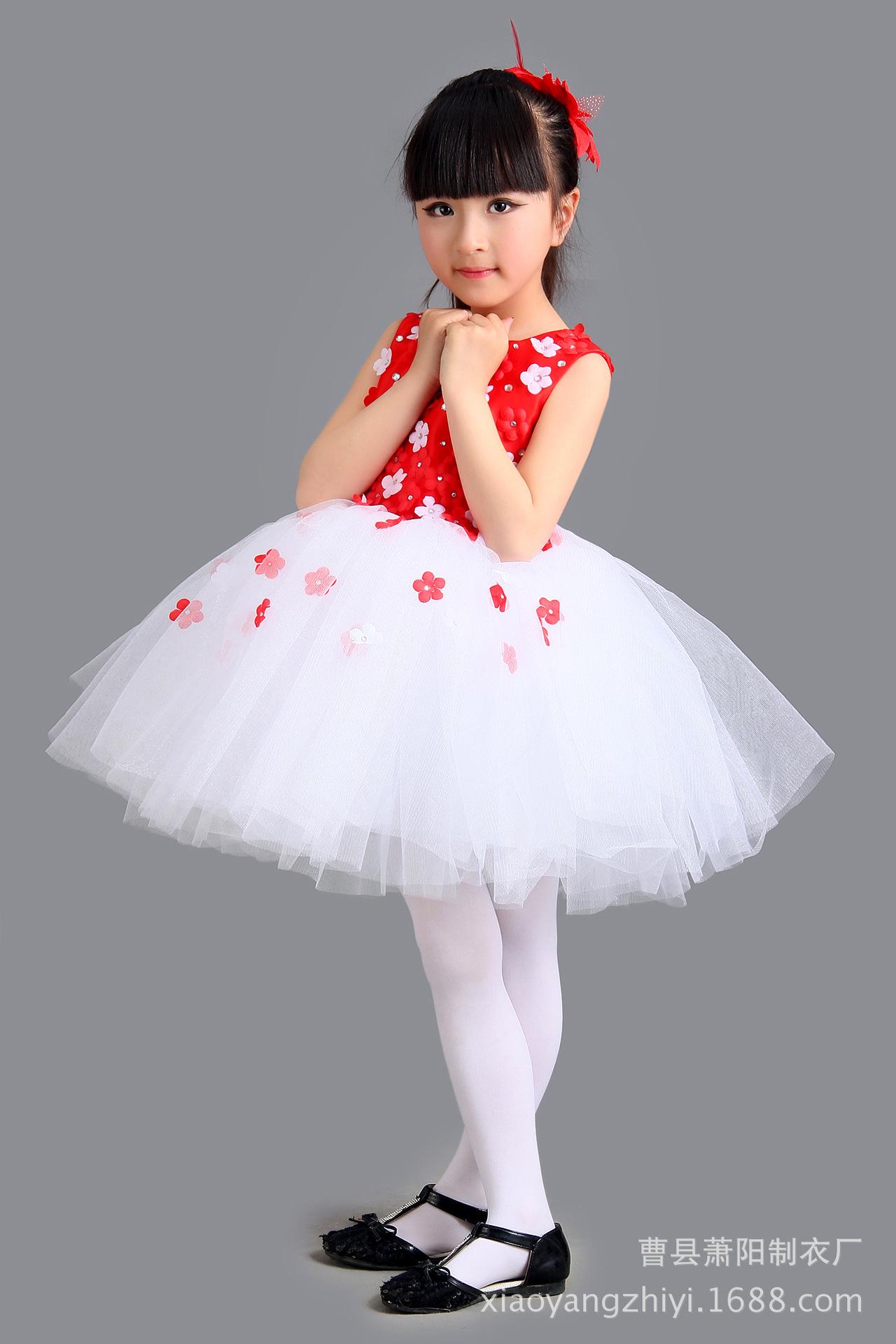 批发零售公主裙儿童万圣节蓬蓬裙女童花裙舞蹈服演出服礼服裙