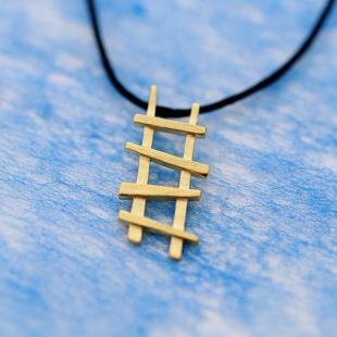 зазор в убыток, серебро 925 ретро продуктов (золотой цепочки лестница рукав) серебряные украшения ожерелье