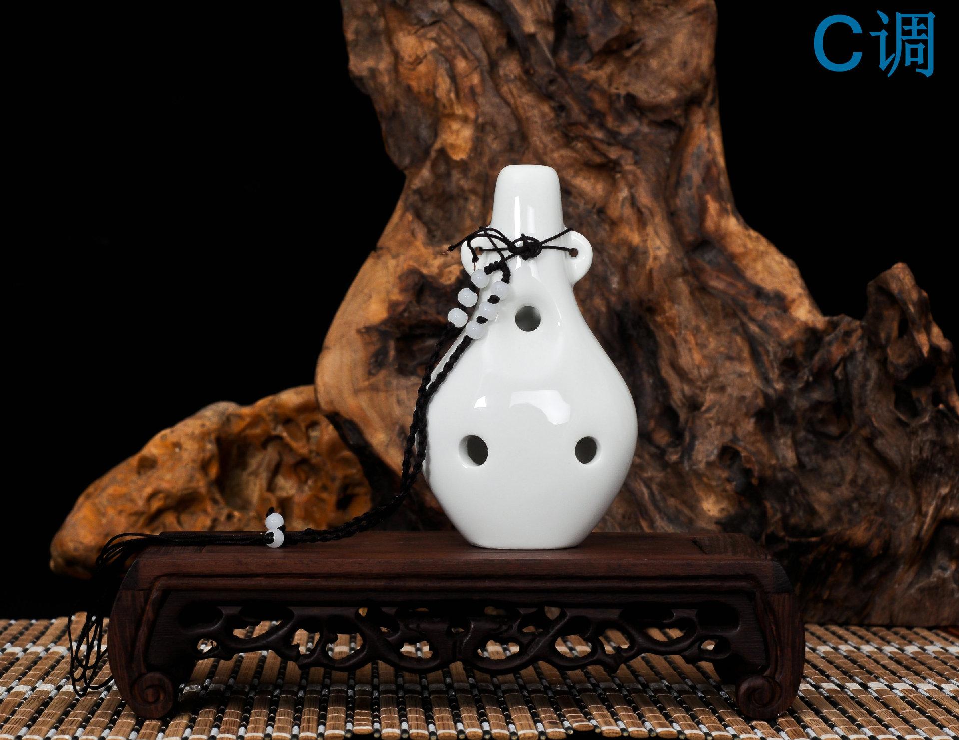六孔陶笛 六孔陶笛 陶瓷名族 c孔陶瓷 送曲谱 阿里巴巴