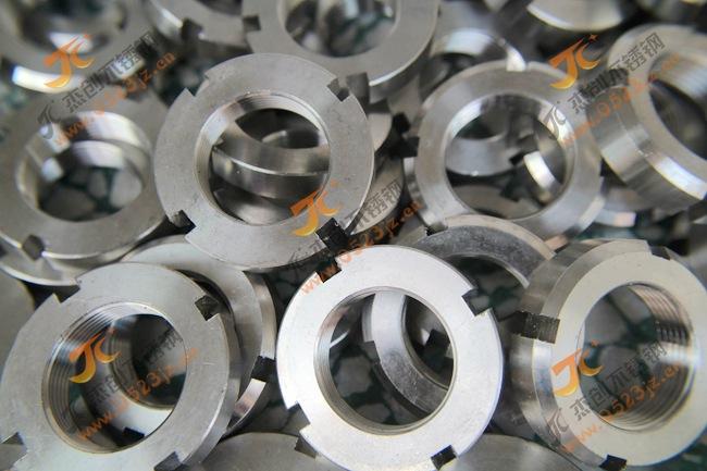 现货供应304不锈钢圆螺母 M20*1.5不锈钢圆螺母 GB812圆螺母