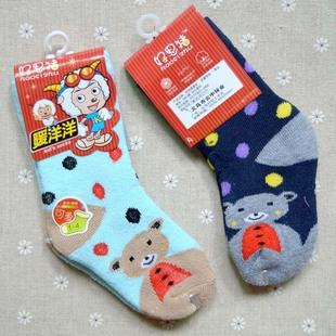 冬款好思猪童袜/保暖宝宝毛巾袜/加厚毛圈袜 1-8岁儿童袜子 批发