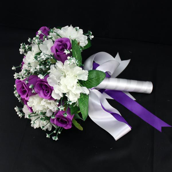 Attractive Mix Kinds Flowers Brooches Bridal Wedding Bouquet Pure ...
