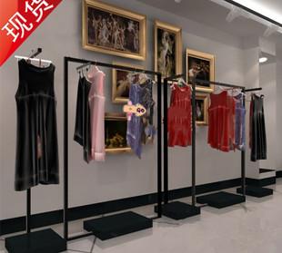 高档铁艺服装架 服装店衣架展示架 落地中岛架 服装店货架 婚纱架