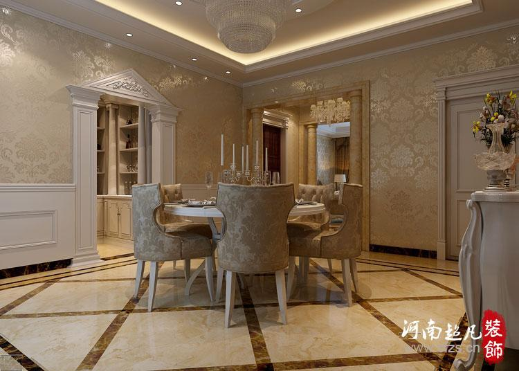普罗旺世四居室欧式风格装修效果图–