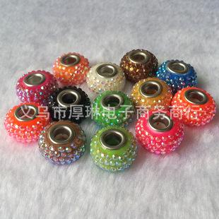 2mm钻 14mm大孔钻球 陶瓷钻球 满天星散珠 香巴拉饰品配件批发