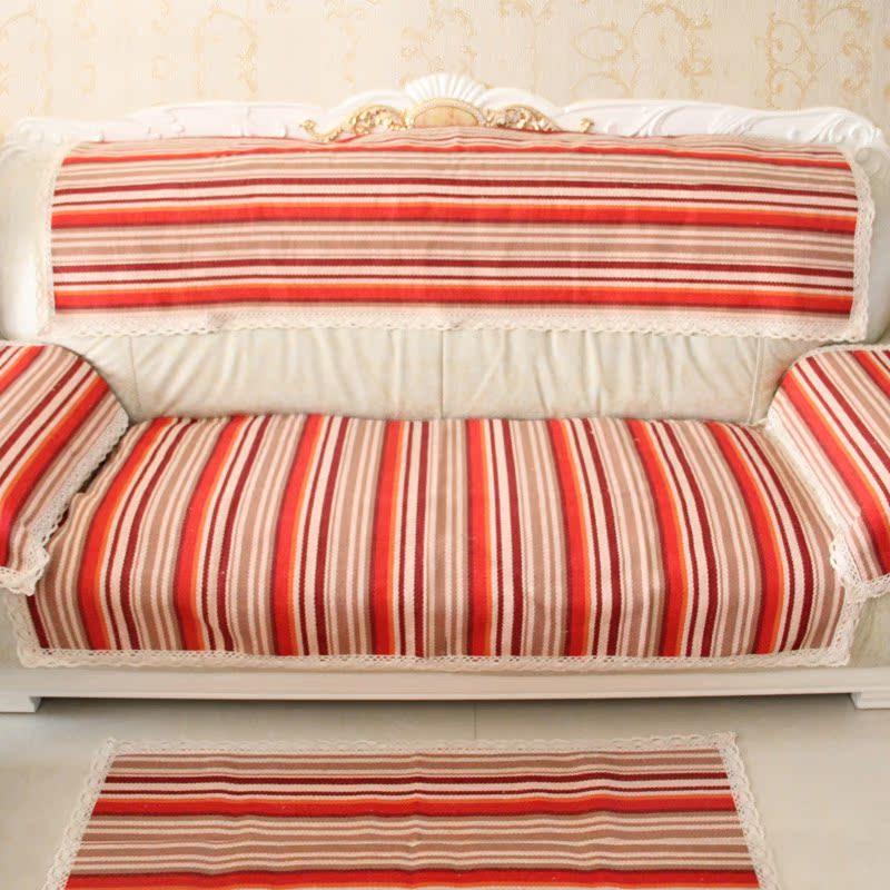 坐垫 沙发垫 布艺组合沙发垫 花边坐垫 沙发垫 宜家防滑坐垫 四季通用
