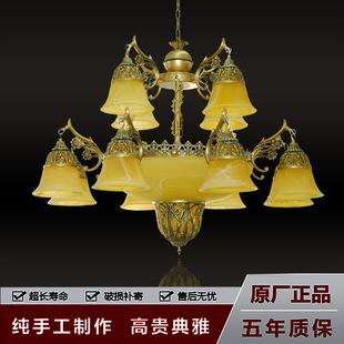 завод оптовой люстр бронзового цвета ретро освещения золотистый стекло светильников оптом инженерно - настройки