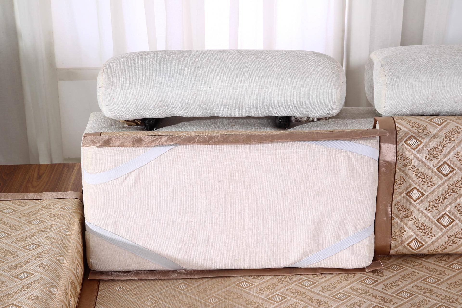 布艺沙发垫 夏季加厚沙发坐垫夏凉席坐垫布艺防滑沙发垫厂家直 阿里