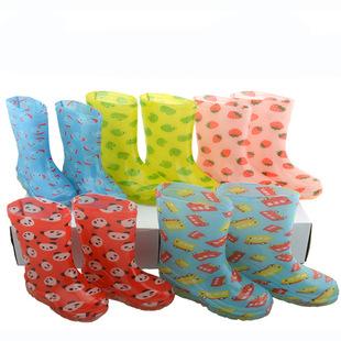正品日本LINDA儿童雨鞋/雨靴 水晶果冻 卡通可爱 现货批发