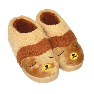 居家保暖棉鞋男女情侣包跟厚底可爱卡通高帮棉拖鞋外贸原单现货