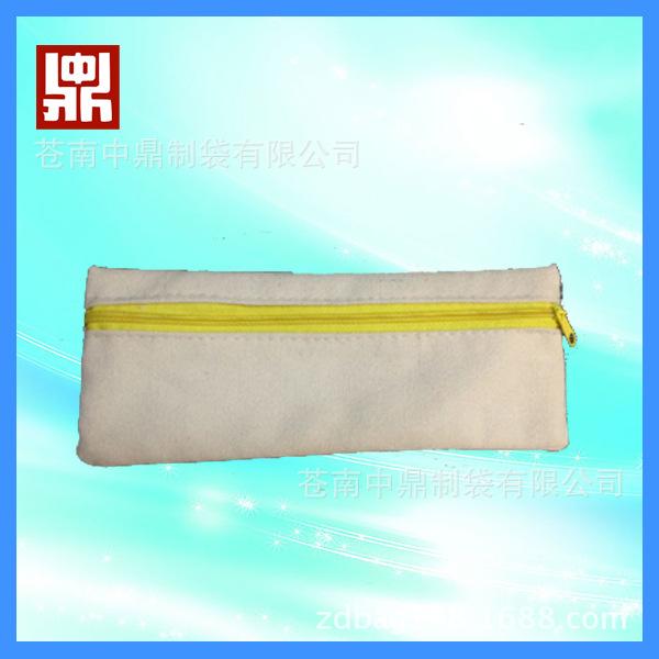 苍南厂家定制 帆布棉布笔袋 简易式广告礼品笔袋 学生文具包