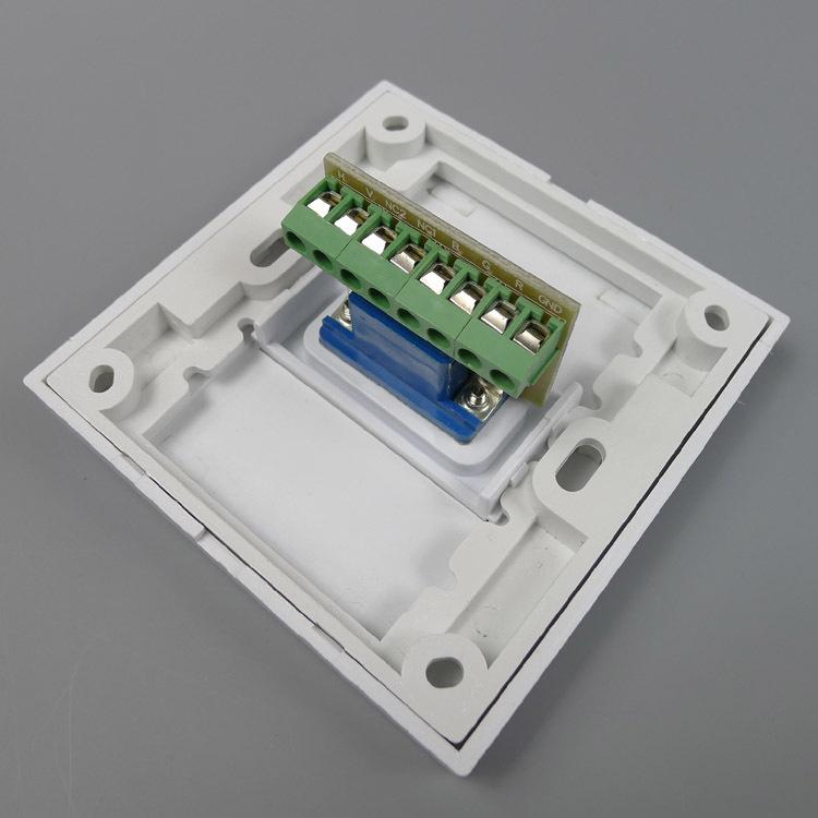 免焊接接线 vga面板 免焊接 3 4接线 vga 面板 插座 墙插 阿里巴巴