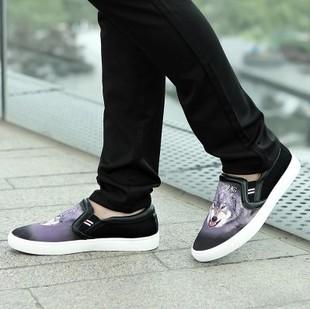 Новые ... 9-цветные модели 3D шелковая ткань Мужская прилив, чтобы помочь полуботинки холст популярные модели ступил мужские ботинки
