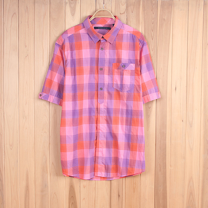 $2.11 For Men's Check Shirt Shirts Stocklots