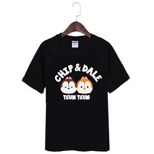 夏装学院风学生T恤tsum花栗鼠松鼠情侣装短袖t恤潮班服烫画工艺