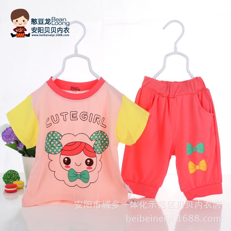 儿童运动套装 新品宝宝夏装儿童运动套装婴儿短袖裤 阿里巴巴