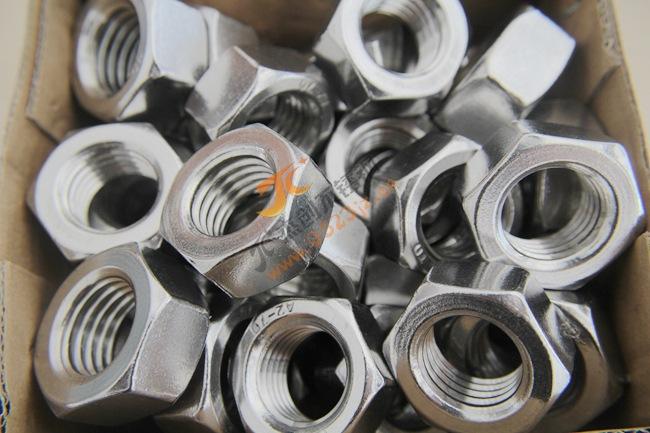 现货供应M24六角螺母 304不锈钢螺母DIN934六角螺帽