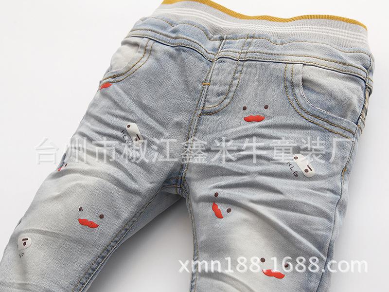 印花儿童牛仔裤
