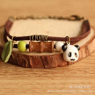 景德镇创意陶瓷动物可爱手链 可爱甜美萌物学生首饰品