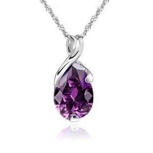 天然紫水晶925纯银项链 项链 批发 项饰 s925银饰 吊坠 一件代发