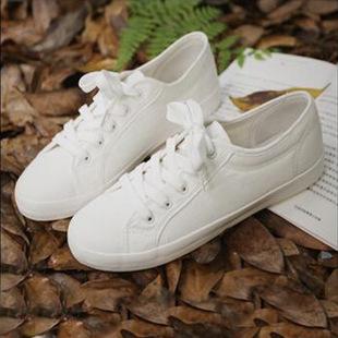 2016百搭森女款素面韩版小白鞋女白色纯棉布鞋帆布鞋女超柔软舒适