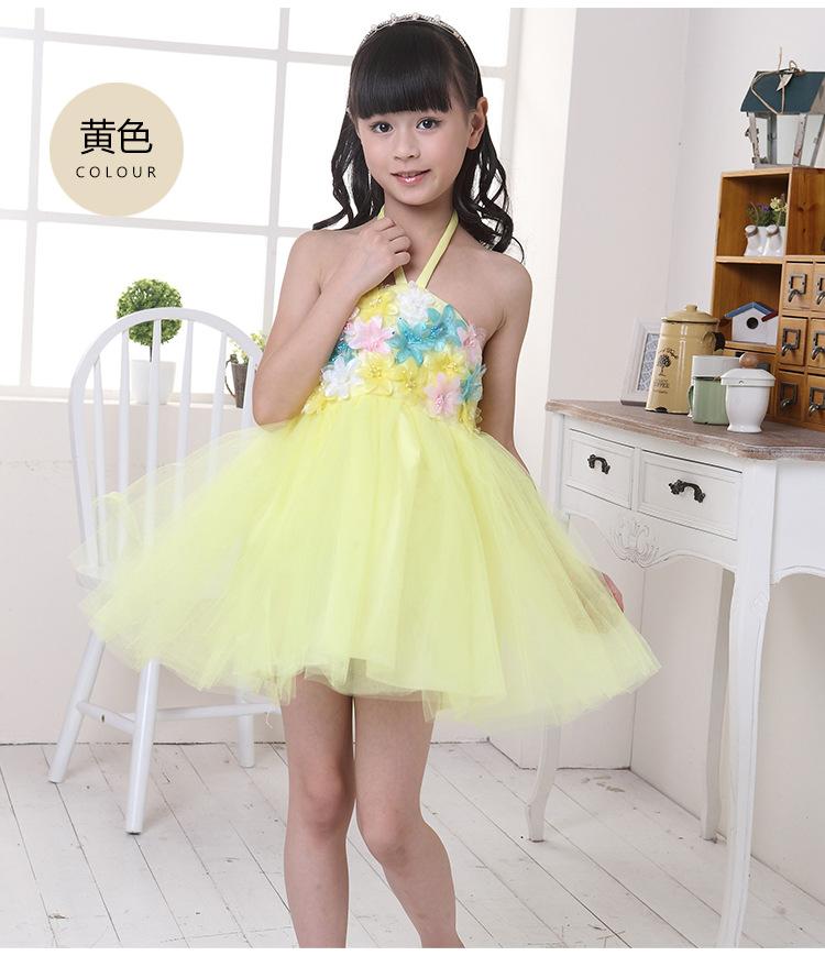 芭娜公主圣诞节儿童舞蹈演出服装 女童连衣裙公主裙花童蓬蓬纱裙