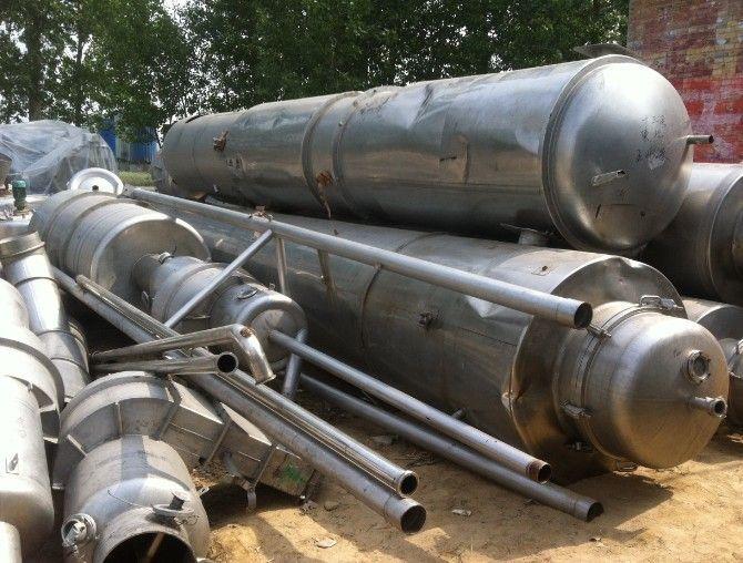 二手不锈钢304材质蒸发器,回收二手10吨四效蒸发器 -不锈钢蒸发器