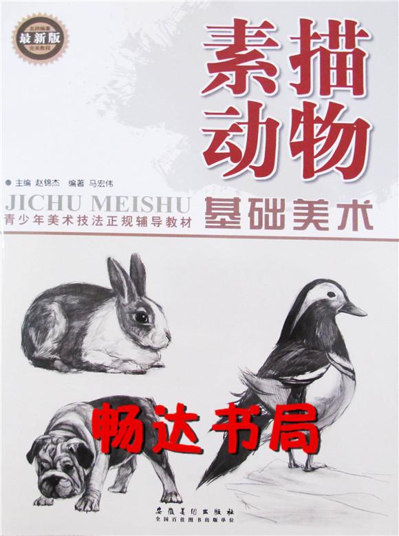 正版美术正规实用教材基础美术素描动物青少年美术技法安徽