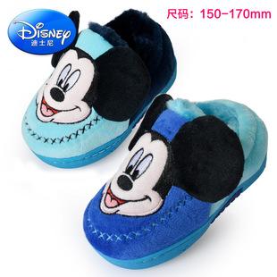 迪士尼儿童保暖鞋冬 男童宝宝包跟棉鞋棉拖鞋居家一件起批